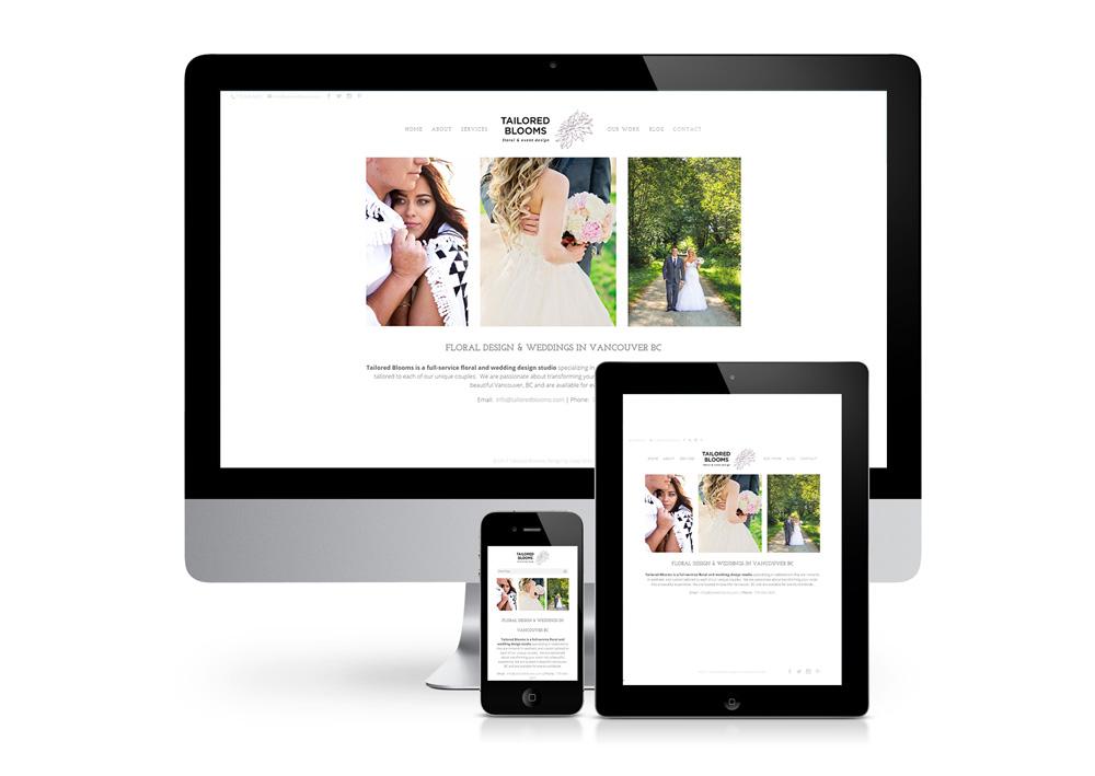 Flower Design & Weddings Website
