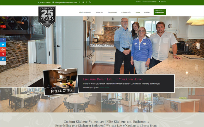 Kitchen Center Website